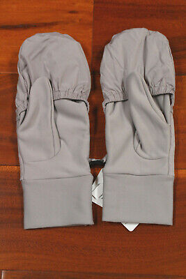 NWT Lululemon Run Fast Gloves Gray Mittens Reflective Chrome X Small/Small $38