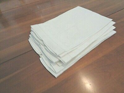 Collection of 5 Matching Antique hand Towels all white