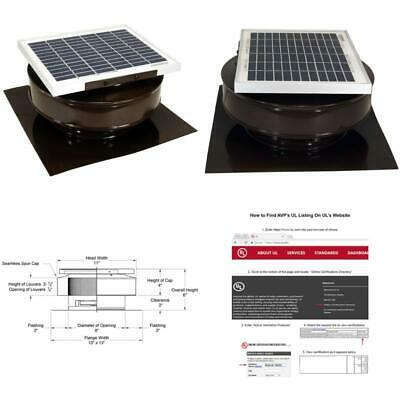6V 10W Outdoor Solar Powered Panel Exhaust Roof Attic Fan Air Ventilation Vent