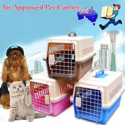 Portable Tote Crate Kennel Pet Cat Dog Carrier Travel Carry Bag Airline Approved