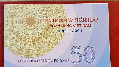 Vietnam 50 Dong Polymer Commemorative Banknote 2001