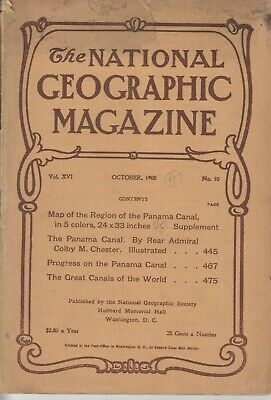 National Geographic Vol XVI No. 10 1905; Oct 1905, WITH Panama Supplement