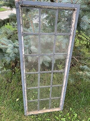 Antique Vintage Sash Galvanized Steel Window Frame Panel Decor