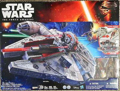 Star Wars The Force Awakens Battle Action Millennium Falcon  Nerf New Sealed