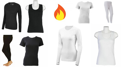 Ladies Thermal Underwear Vest T-Shirt Full Sleeve Top Legging Bottoms Long Janes