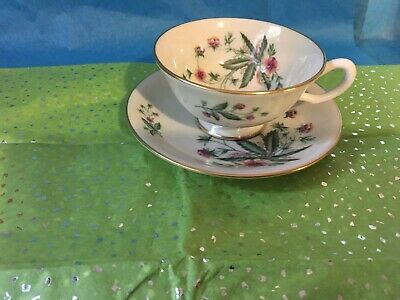 LENOX china COUNTRY GARDEN Cup And Saucer  W302 Made in USA