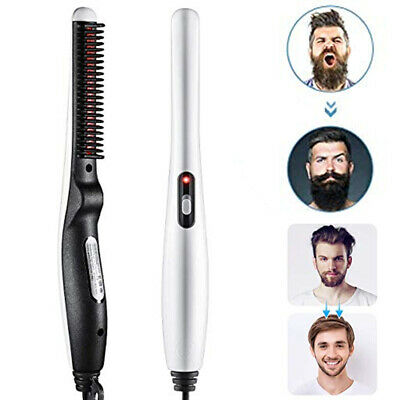Beard Straightener Comb Brush Electric Quick Heated Mens Styler Heat Styling Hot