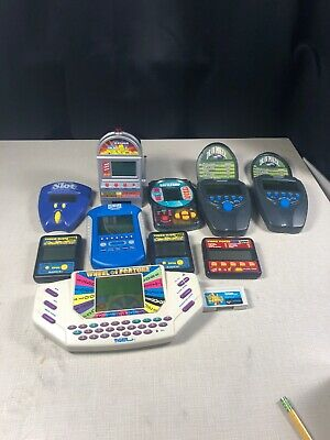 Lot Of 10 Vintage  Electronic Hand Held Games