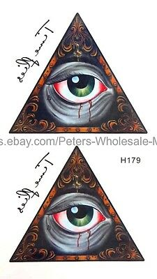 US SELLER, ancient Egyptian eye of Horus temporary tattoo fake tattoos for adult