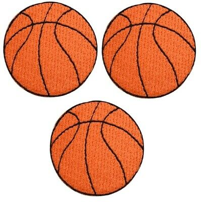 FLAMING BASKETBALL PATCH EMBROIDERED new IRON-ON APPLIQUE SPORTS SLAM DUNK new