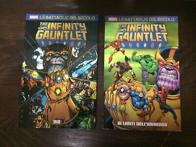 "Marvel Le Battaglie del Secolo ""The Infinity Gauntlet"" n.13 e 14 Panini Comics."