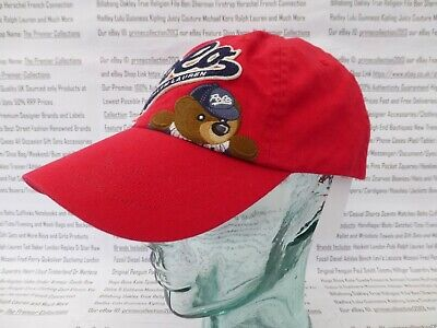 POLO RALPH LAUREN Classic Baseball Cap Mens Embroidered Bear Hat Red Caps BNWT