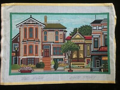 Peter Ashe Hand-painted Needlepoint Canvas Union Street/San Francisco California