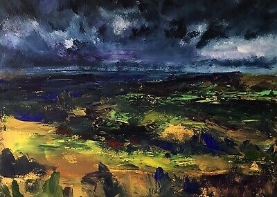 ORIGINAL PAINTING  Acrylic On Canvas 'Approaching Storm Brecon Beacons'40x30cm