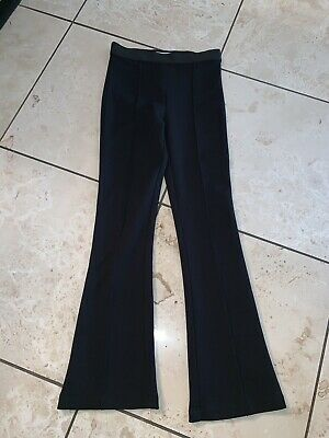 BAILEY 44 Solid Black Ponte Stretch Knit Wide-Leg Pintuck Seamed Pants XS