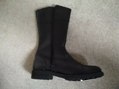 Girls M And S leather Boots Size 6 New