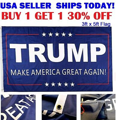 Trump Flag 3x5 Ft - Make America Great Again Flag MAGA - Donald USA American US