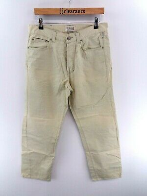 VERSACE JEANS COUTURE Mens Jeans Trousers 36 W34 L31 Green Cotton