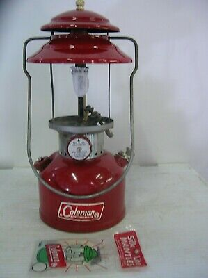 Coleman 200A Red Lantern, single mantel, Tested & Working, No Globe, dated 8  70