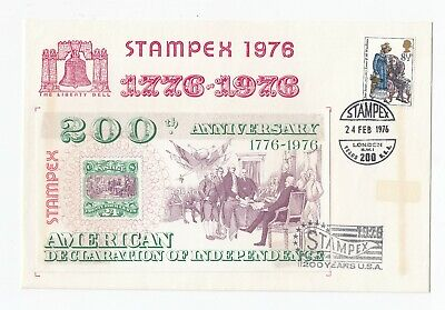 GB 1976 Stampex 200 Years of USA FDC VGC