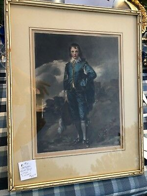 The Blue Boy by Thomas Gainsborough Vintage Print Litho Painting SIGNED!!