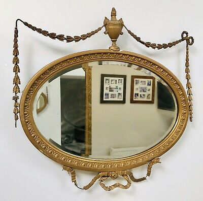 LOVELY 19thC ANTIQUE GILTWOOD WALL MIRROR C1860