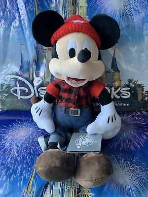 "2019 Disney Parks 13"" Mickey Mouse Canada Epcot World Showcase Plush NWT"