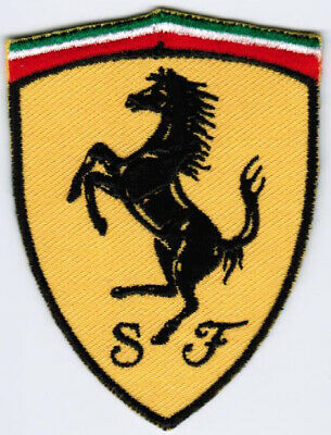 Ferrari Emblem Logo Motor Company Automaker Car Racing Iron On Embroidered Patch