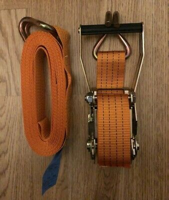 10M x 2 Tonne (2000kg) x 50mm Ratchet Strap Towing Lorry with Claw Hooks
