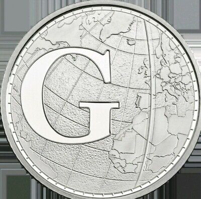 A- Z Alphabet 10p Letter G For Greenwich Mean Time 2018 Coin Hunt (Ten Pence)