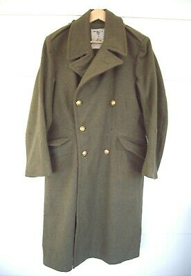 A Vintage Australian Army Great Coat /Trench Coat Marked 1967 Size 3.
