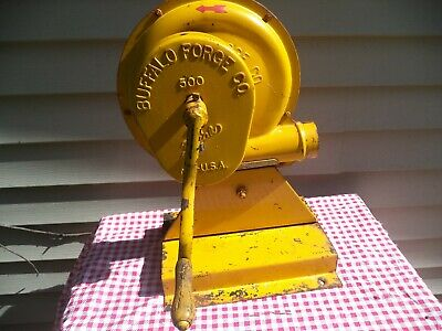 Very Nice Old Antique Yellow Buffalo Forge Co. Blacksmithing 500 Blower