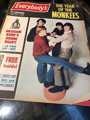 Everybody's Vintage Entertainment Mag 1967 Monkees Sanyo Fashion