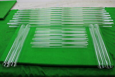 """Lot Of Glass Blowing Tubes - 8 Long Tubes 40"""" - 9 Short Tubes 17"""""""