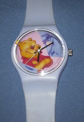 Disney Winnie the Pooh clear Jelly Plastic 14mm replacement Watchband w pins NIB