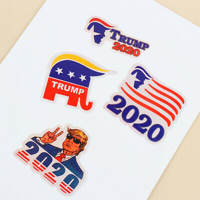 Bicycles Donald Car Sticker Notebook Decal Hat Decals Trump 2020 Stickers