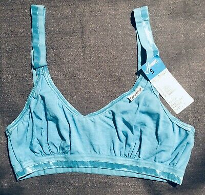 NOS VTG Henson Kickernick SMALL Bra SKAMP Bralette Turquoise Wire Free USA Made