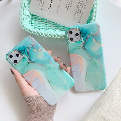 Fresh Green Marble Soft Slim TPU Case Cover For iPhone 11 Pro Max XS XR X 8 7 6s