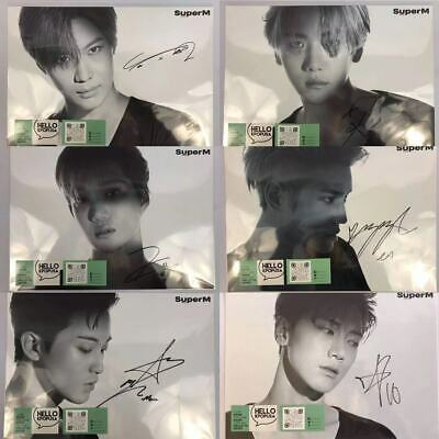 SuperM MEMBER SIGNED POSTER IN STAYFLATS MAILER +LIVE TOUR 2020 MEMBER PHOTOCARD