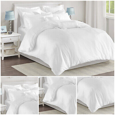 Egyptian Cotton Duvet Quilt Cover Bedding Set Single Double King Super King400Tc