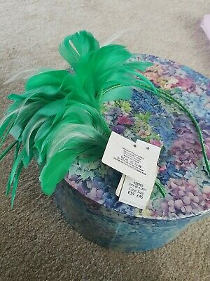Green 'Luck Be A Lady' Fascinator From Debenhams BNWT headband Style RRP £45