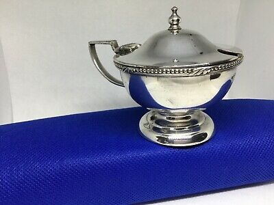Antique gladwin Sheffield embassy silver plated mustard pot Art Deco