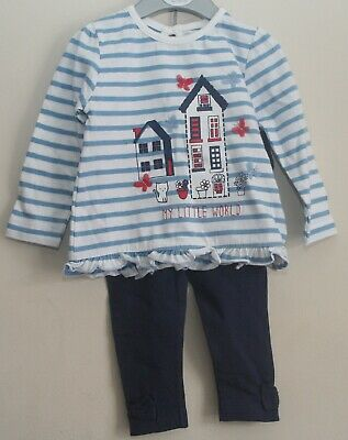 Baby Girl's 2 Piece Set/Outfit - Long-Sleeved Striped Top & Leggings 3-12 Months