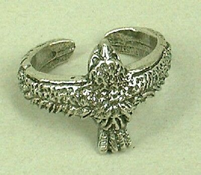 Egyptian Horus Hawk Ring in Fine English Pewter