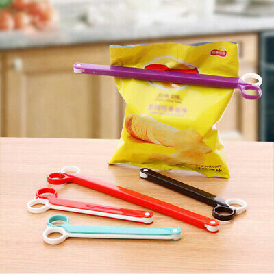 2Pcs/lot Househould Food Snack Storage Seal Sealing Bag Clips Sealer Clamp