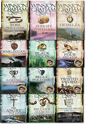 Winston Graham Poldark Series 12 Books Collection Set (Ross Poldark, Demelza, Je