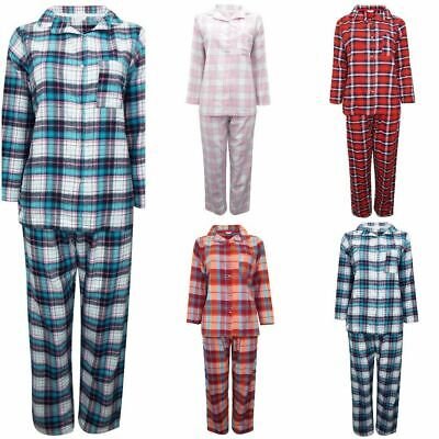 Ladies Brushed Cotton Pyjama Sets Love To Sleep Sizes 8,10,12,14,16,18