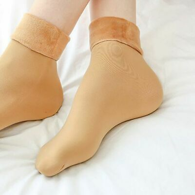 2Pairs Women's Winter Thick Warm Fleece Lined Thermal Stretchy Socks Elastic Fit