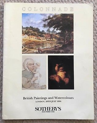 Sotheby's Colonnade British Paintings & Watercolours July 1994 auction catalogue