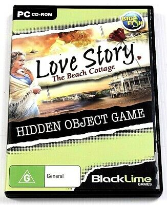 Love Story The Beach Cottage Game PC Hidden Mystery Object Puzzle Adventure RARE